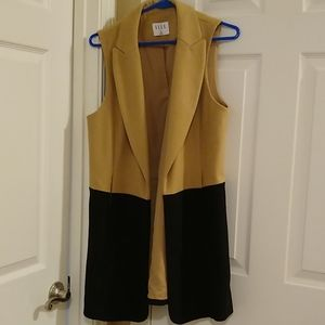 Vest/jacket brown & black